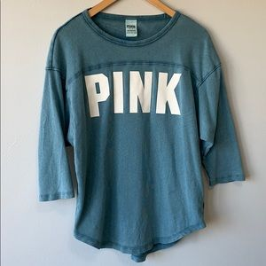 PINK // half sleeve shirt